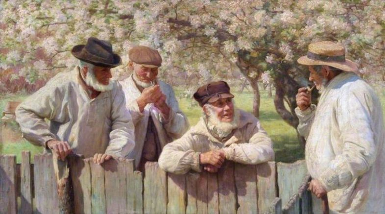 Sheard, Thomas Frederick Mason; 'Gossipping Gaffers'; Oxford City Council; http://www.artuk.org/artworks/gossipping-gaffers-43505