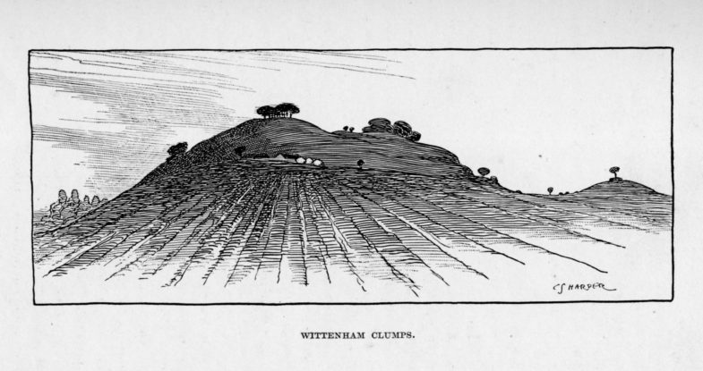 Wittenham Clumps, by Charles G. Harper from Thames Valley Villages, 1910 (a)